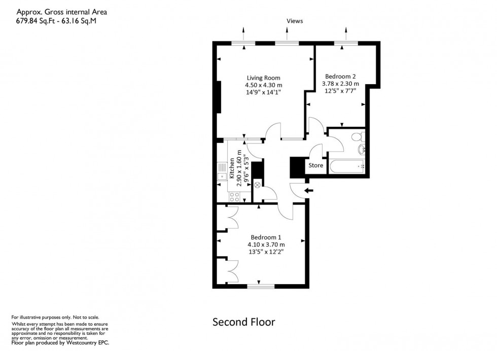 Floorplan for Caledonia Place, Clifton, Bristol