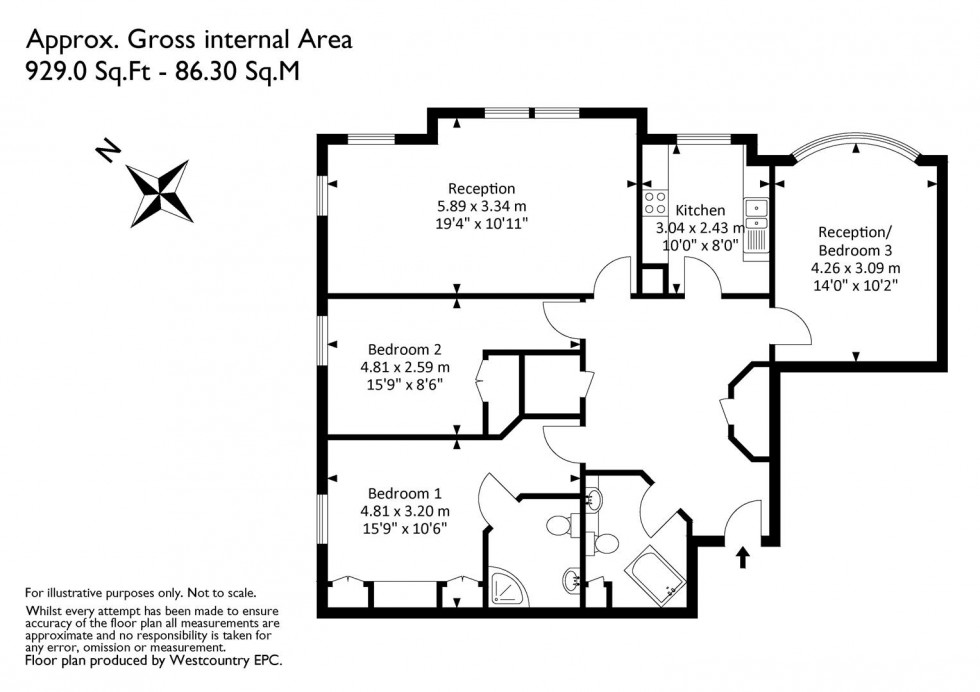 Floorplan for The Avenue, Clifton, Bristol
