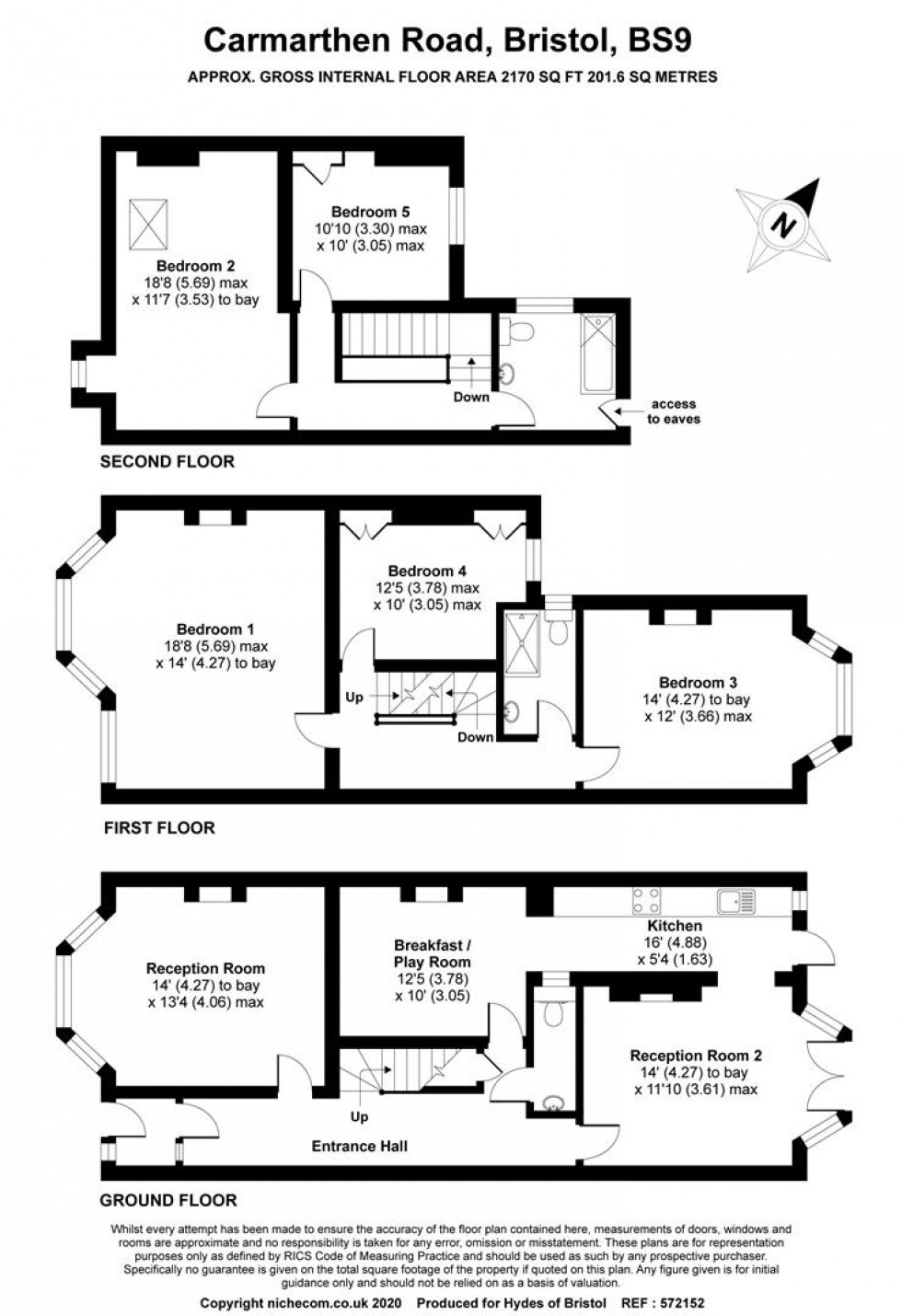 Floorplan for Carmarthen Road, Henleaze, Bristol