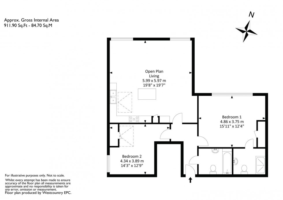 Floorplan for 1 Percival Road, Bristol